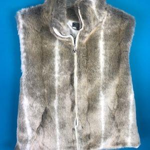 Women's fluffy vest XL